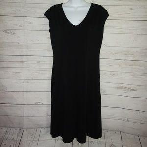 Athleta Central Black Dress Women L Short sleeve